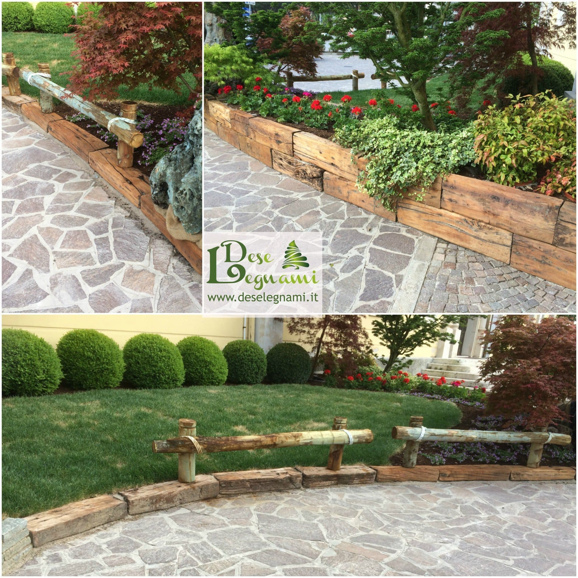 Giardini con aiuole amazing decorare il giardino con i for Giardini e aiuole