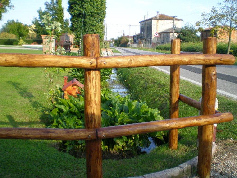 Recinzione in legno per terrazza ispirazione di design - Recinzione piscina legno ...